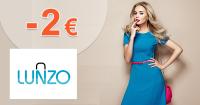 Zľava -2€ na prvý nákup na Lunzo.sk