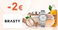 Zľava -2€ na všetko na prvý nákup na Brasty.sk