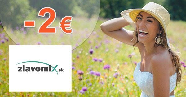 Zľava -2€ na všetko na prvý nákup na Zlavomix.sk