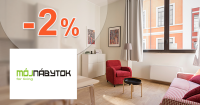 Zľava -2% na celý sortiment na MojNabytok.sk