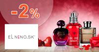 Zľava -2% od prvého nákupu na Parfemy-ELNINO.sk