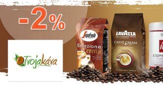 Zľava -2% pre členov Club kávičkár na TvojaKava.sk