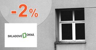 Zľava -2% za platbu dopredu na Skladove-okna.sk