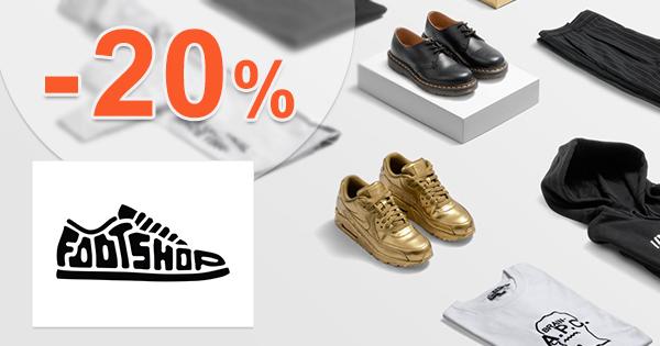 Zľava -20% na Footshop.sk