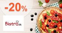 Zľava -20% na donášku cez Bistro.sk, akcia, kupón