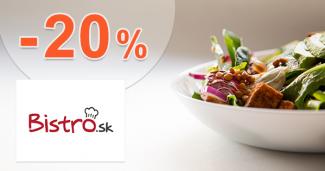 Zľava -20% na donášku v Žiline cez Bistro.sk