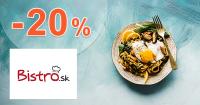 Zľava -20% na donášku v Košiciach cez Bistro.sk