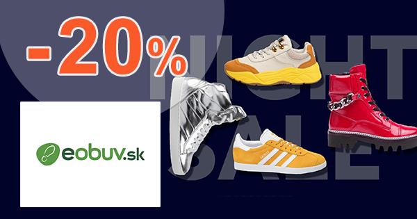 Zľava -20% na eObuv.sk