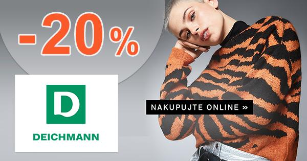 Zľava -20% na nezľavnenú obuv na Deichmann.sk