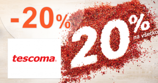Zľava -20% na všetko na Tescoma.sk
