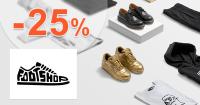 Zľava -25% na Footshop.sk