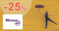 Zľava -25% na Menox45 Forte na Menox45.sk
