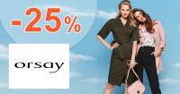 Zľava -25% na jeden kúsok na Orsay.com