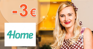 Zľavový kód -3€ zľava k nákupu na 4Home.sk