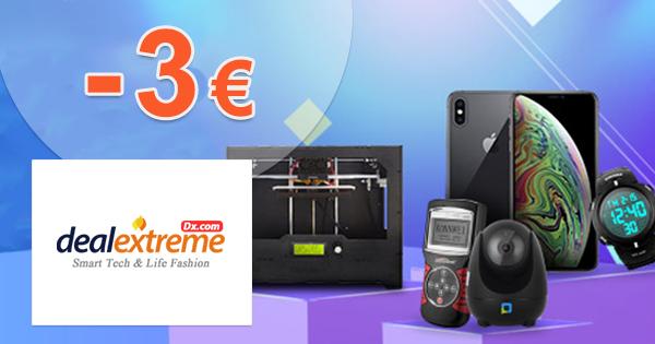 Zľava 3€ na prvý nákup na DealeXtreme.com