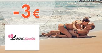 Zľava -3€ na prvý nákup na LoveSexShop.sk