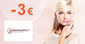 Zľava -3€ na prvý nákup na NechtovyRaj.sk