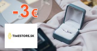 Zľava -3€ na prvý nákup na TimeStore.sk