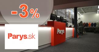 Zľava -3% na Parys.sk