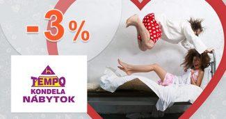Zľava -3% na prvý nákup na TempoNabytok.sk