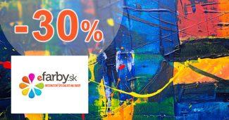 Zľava -30% na eFarby.sk