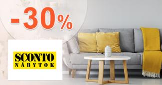Zľava -30% na nábytok na prvý nákup na Sconto.sk