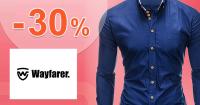 Zľava -30% na všetky košele na Wayfarer.sk