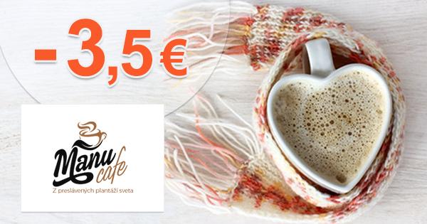 Zľava -3,5€ na prvý nákup na ManuCafe.sk