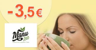 Zľava -3,5€ na všetko na prvý nákup na ManuTea.sk