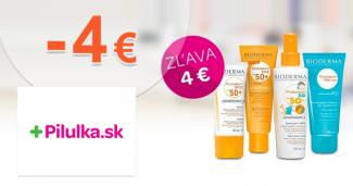 Zľava -4€ na produkty Bioderma na Pilulka.sk