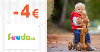 Zľava -4€ na prvý nákup na Feedo.sk