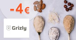 Zľava -4€ na prvý nákup na Grizly.sk