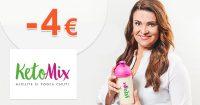 Zľava -4€ na všetko na prvý nákup na Ketomix.sk