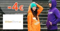 Zľava -4€ na všetko na prvý nákup na UrbanStore.sk