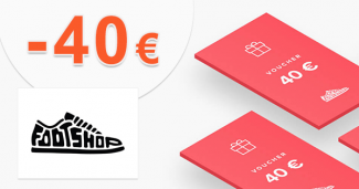 Zľava -40€ na nákup na FootShop.sk