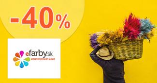 Zľava -40% na eFarby.sk