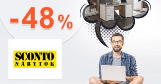 Zľava -48% na kancelársky nábytok na Sconto.sk