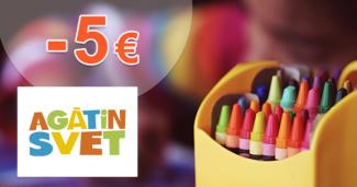Zľava -5€ na prvý nákup na AgatinSvet.sk