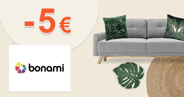 Zľava -5€ na prvý nákup na Bonami.sk
