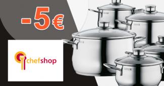 Zľava -5€ na všetko na prvý nákup na ChefShop.sk