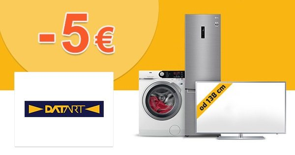 Zľava -5€ na všetko na prvý nákup na Datart.sk