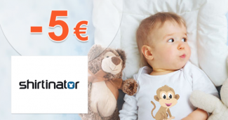 Zľavový kód -5€ zľava na všetko na Shirtinator.sk