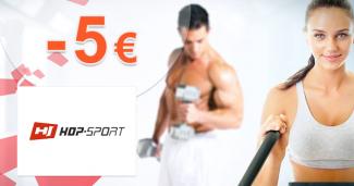 Zľava -5€ na všetky na prvý nákup na Hop-Sport.sk