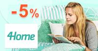 Zľavový kód -5% zľava na všetko na 4Home.sk