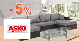 Zľava -5% na celý nákup na ASKO-nabytok.sk