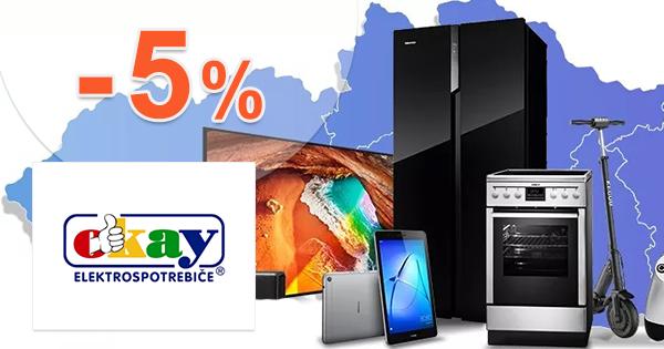 Zľava -5% na nábytok na objednávku na Okay.sk