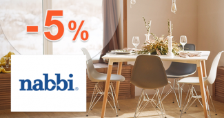 Zľava -5% na prvý nákup na Nabbi.sk
