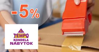 Zľava -5% na rozbalený tovar na TempoNabytok.sk
