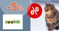 Zľava -5% na všetko pre chovateľov na ZooHit.sk