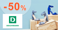Zľava -50% na druhý kúsok na Deichmann.sk